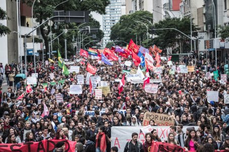 Brazil protest for education 15 May