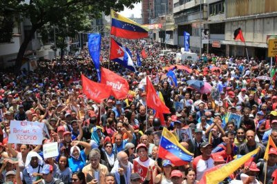 Venezuela protest against US military coup