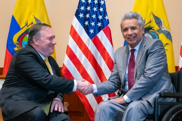 Lenin Moreno and Pompeo